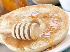 Bagel with Honey
